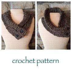 CROCHET PATTERN for Cable Scarflette, Cable Cowl, Crochet Cowl, Cowl Pattern Beginner, Neck Warmer, Shoulder Wrap, Scarf