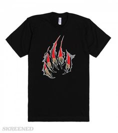 Ripping Claws | Cool & original design of a claw ripping the fabric of clothing. A must have cool tee! #Skreened