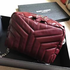 Saint Laurent Cassandre Chain Strap Matelasse Shopper Bag