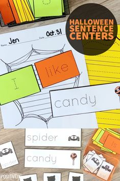 Here's a haunted-themed sentence writing packet perfect for Halloween and autumn. Add to your small groups AND spooky centers!