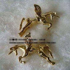 New Punk Rock Metal 3D Unicorn Pegasus Flying Horse Ear Cuff Stud Earring Free ($6.99) - Svpply