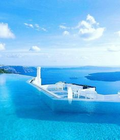 Endless views from the pool at the Grace Santorini Hotel courtesy of Tag your friends for featuring by earth_destinations Vacation Places, Dream Vacations, Vacation Spots, Places To Travel, Places To Visit, Wonderful Places, Beautiful Places, Santorini Hotels, Santorini Greece