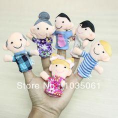 6pcs/lot familiares adoráveis crianças fantoche de dedo crianças brinquedo educacional presente arte pano macio dedo águia capturas galinhas jogo 5.88