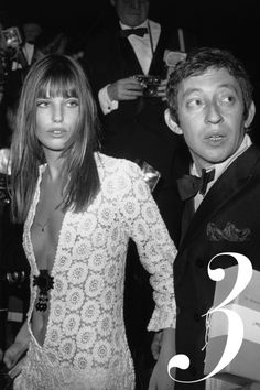 Jane Birkin made the white dress a lot less innocent when she hit a Paris gala in 1969 this lace crochet gown with a down-to-there neckline.