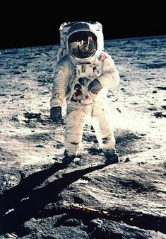 First steps on moon. There is more computer power in our cell #phones than NASA had to get to moon. In only 50 years.
