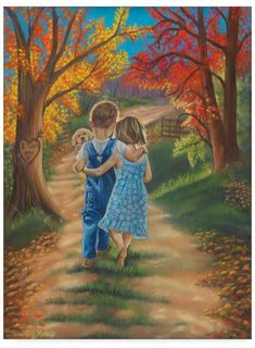 Tricia Reilly-Matthews 'Fall In Love' Canvas Art - 35 x 47 Happy Birthday Little Girl, Artist Canvas, Canvas Art, Arte Country, Creation Photo, Love Canvas, Real Friends, Anime Comics, Art Pages