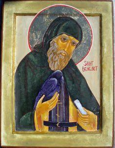 St Benedict w his raven Becky Nielsen
