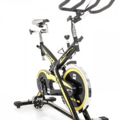 Experience realistic cycling at home with the SB1.8 Indoor Cycle. A chain-free, quiet poly-V belt drive delivers ultra-smooth motion with infinite resistance. Key features include an easy to navigate LCD console, telemetric heart rate receiver, adjustable racer seat and ergonomic handlebars.