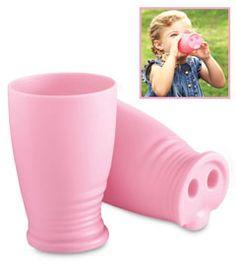 farm party - pink pig snout cup