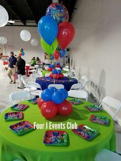 15 ideas para decorar un Cumpleaños PJ Mask Sofia The First Birthday Party, 3rd Birthday Parties, Boy Birthday, Pj Masks Party Favors, Festa Pj Masks, Pjmask Party, Miami Party, Party Ideas, Pj Masks Balloons