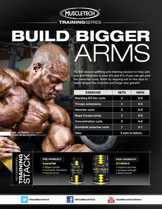 If you're looking for size and thickness in your bi's and tri's check out this routine and get that HUGE work in!