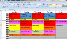An editable schedule for organizing your speech therapy caseload in a colorful, neat, and printable format. Organize and revitalize your speech therapy schedule to make your life easier as an SLP!This schedule has 3 options: 10, 20, and 30 minute increments.Note: You must have Microsoft Excel to use this document.Unfamiliar with Excel?