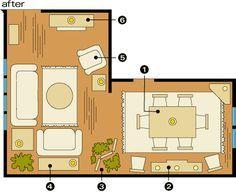 New Living Room Furniture Arrangement Ideas L Shaped Ideas L Shaped Living Room Layout, Small Living Room Layout, Small Living Room Furniture, My Living Room, Living Room Designs, Bedroom Furniture, Apartment Furniture Layout, Apartment Design, Design Room