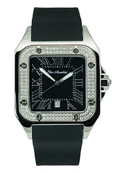 11ce699b5 Elico Assoulini SM76057 Piazza Grand w Black Rubber Band Swarovski Crystals  -- You can find