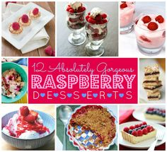 Looking for a dazzling way to use raspberries? These 12 delicious desserts turn seasonal berries into something sensational!