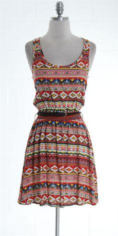 $29.92 Tribal print dress open back