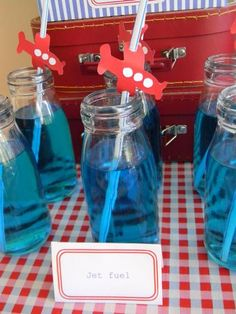 Jet's baby shower-Hostess with the Mostess® - Airplane party
