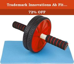 Trademark Innovations Ab Fitness Roller Wheel, Red. This ab wheel provides an easy and innovative way to work your upper body from your arms to your core. Use in the comfort of your home or take it with you to the gym. Either way you will see the benefits with regular use. Designed for all fitness levels. Be sure to start slowly and work your way up to a full extension. By Trademark Innovations. Strengthen abs, shoulders, arms and back and core 2 non-skid wheels provide added stability…