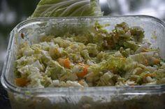 Salade met Chinese kool en walnoten