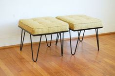 Mid Century Modern Hairpin Benches Ottomans