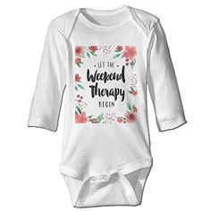 Let Weekend Therapy Begin Cute Baby Onesie Cotton Toddler Clothes ** Check out this great product.