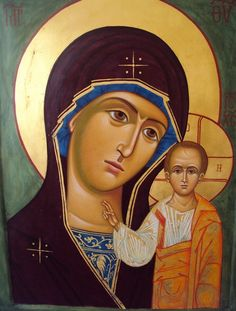 Orthodox Icon of the Virgin Mary and Christ
