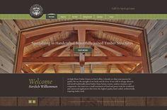 High Plains Timber Frames Website Design.