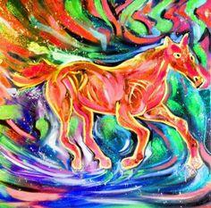 Cavallo,olio su tela,70x70cm,2014