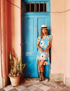 Clothing via Mister Zimi Jewelry by Luv AJ Hat by Gladys Tamez Millinery Black gladiator sandals by Schutz Shoes Tan heels via ZARA Photos shot in Old Havana, Cuba by Nick…