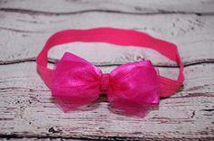 čelenka - růžová mašle