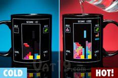 Geek Tetris Heat Change Mug Coffee Mugs