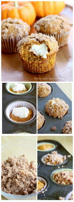 Pumpkin Cream Cheese Muffins - hands down one of my favorite muffins ever! the-girl-who-ate-everything.com