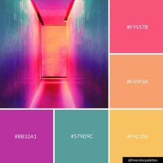 Neon | Rainbow |Color Palette Inspiration. | Digital Art Palette And Brand Color Palette.