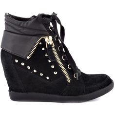 Guess Shoes Hitzo - Black Suede ($120) ❤ liked on Polyvore
