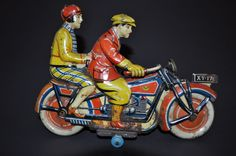 GELY Tin Motorcycle 1935 Germany RARE