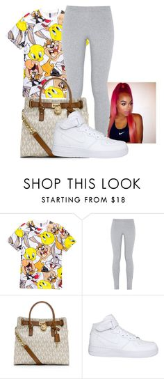 """Untitled #137"" by badleaa on Polyvore featuring H&M, NIKE and MICHAEL Michael Kors"