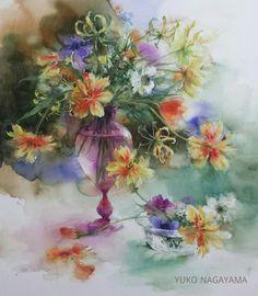 以前、ルーブルで たくさんの花が咲き誇るテンペラを観ました。