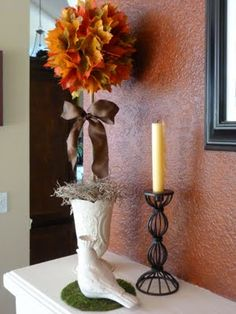 Bargain Bound: Fall Topiary  Easy, inexpensive yet very elegant looking.