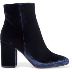 Gianvito Rossi Velvet ankle boots ($790) ❤ liked on Polyvore featuring shoes, boots, ankle booties, purple, zipper ankle boots, high heel ankle boots, velvet booties, short boots and purple ankle boots