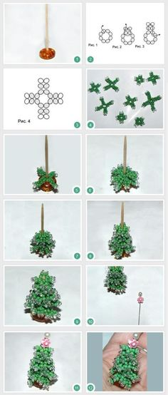 How to weave beaded tree on a stand | Basketry Beads