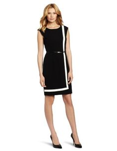 Calvin Klein Women`s Color Block Dress (bestseller) Pretty Dresses, Beautiful Dresses, Dresses For Work, Work Outfits, High Fashion Dresses, Fashion Outfits, Womens Fashion, Calvin Klein Dress, Colorblock Dress