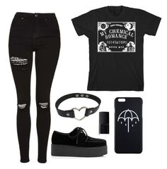 """""""My chem ouija"""" by urieslaugh ❤ liked on Polyvore featuring ASOS, Topshop and NARS Cosmetics"""