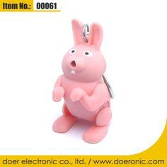 Novelty LED Rabbit Shape Sound Effects Keychain | Doer Electronic the Animals Novelty Gadgets Supplier from China, Welcome to the World of Animals Fun.