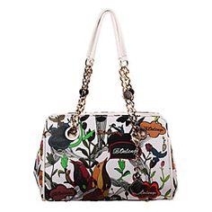 2015 Newest Fashion European Style Handbags Women PU Printing Summer Zipper Totes