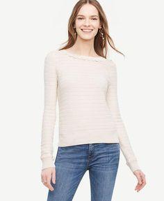 #Ann Taylor - #Ann Taylor Ann Taylor Scallop Textured Sweater - AdoreWe.com
