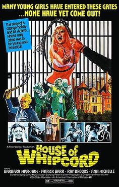 House of Whipcord Stars: Barbara Markham, Patrick Barr, Ray Brooks ~ Director: Pete Walker Horror Movie Posters, Horror Films, Film Posters, Retro Posters, Weird Stories, Young And Beautiful, Vintage Movies, 1970s Movies, Film Movie