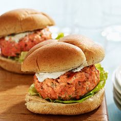 Made these tonight and husband approves!  Easy Salmon Burgers - low calorie