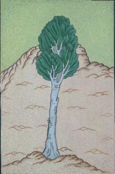 Cahide Keskiner - Minyatür Sanatında Doğa Çizim ve Boyama Teknikleri Hünernâme'den detay