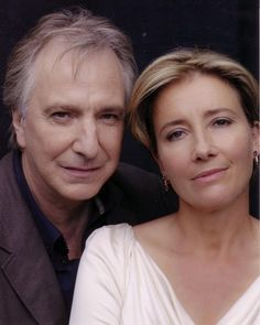 "What would we do without these two?  Alan Rickman & Emma Thompson....from ""The Song of Lunch"""