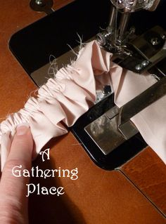 ~~~~~~GATHERING FABRIC RUFFLES~~~~~~~ How To Make Them Perfect